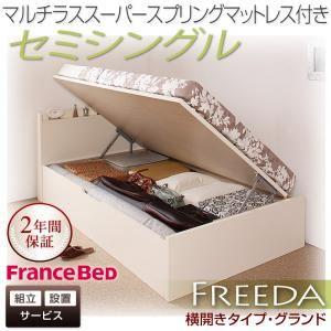 【組立設置費込】収納ベッド セミシングル・グランド【横開き】【Freeda】【マルチラススーパースプリングマットレス】ダークブラウン 国産跳ね上げ収納ベッド【Freeda】フリーダの詳細を見る