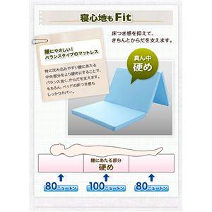 マットレス シングル【Fit】モカブラウン ロ...の紹介画像5