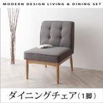 【テーブルなし】チェア(1脚) 座面カラー:グレー モダンデザインリビングダイニング TIERY ティエリー