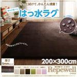 ラグマット【Repewell】200×300cm【厚さ:5mm】チョコレートブラウン 厚みが選べる! 撥水ラグ【Repewell】レペウェル
