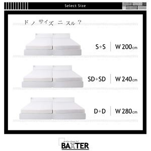 ベッド ワイドキング200(シングル×2)【BAXTER】【フレームのみ】ブラック 棚・コンセント・収納付き大型モダンデザインベッド【BAXTER】バクスター画像2
