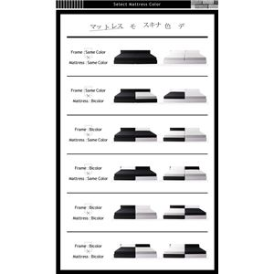 ベッド ワイドキング200(シングル×2)【BAXTER】【ボンネルコイルマットレス:レギュラー付き】フレームカラー:ブラック マットレスカラー:ブラック 棚・コンセント・収納付き大型モダンデザインベッド【BAXTER】バクスター画像3