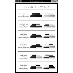 ベッド ワイドキング200(シングル×2)【BAXTER】【ボンネルコイルマットレス:レギュラー付き】フレームカラー:ホワイト×ブラック マットレスカラー:アイボリー×ブラック 棚・コンセント・収納付き大型モダンデザインベッド【BAXTER】バクスター画像3
