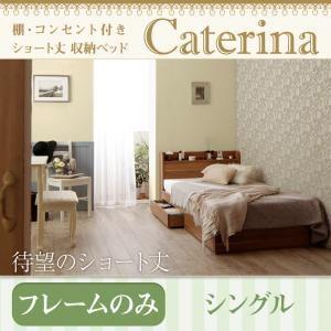 収納ベッド シングル【Caterina】【フレームのみ】ウォルナットブラウン ショート丈 棚・コンセント付き収納ベッド【Caterina】カテリーナの詳細を見る