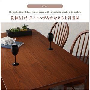 【単品】ダイニングテーブル 幅150cm【Oakham】アンティーク調ウィンザーチェアダイニング【Oakham】オーカム/ウォールナット材テーブル