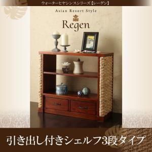 引き出し付シェルフ 3段タイプ【Regen】ウォーターヒヤシンスシリーズ【Regen】レーゲンの詳細を見る