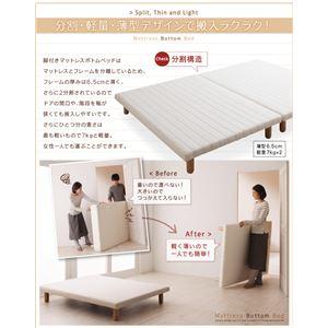脚付きマットレスベッド キングサイズ【スタンダ...の紹介画像4