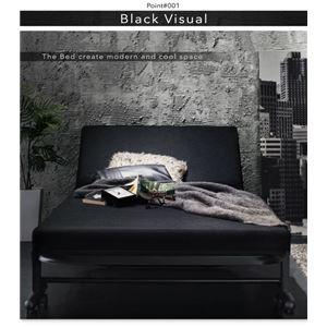 折りたたみベッド【Vencedor】ブラック モダンデザイン・ブラックマットレス・リクライニング折りたたみベッド【Vencedor】ヴェンセドル画像2