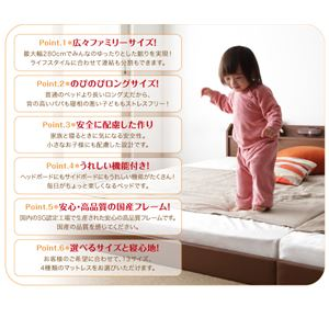 フロアベッド クイーン(セミシングル×2)【J...の紹介画像2