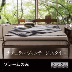 ベッド シングル【Sidonia】【フレームのみ】フレームカラー:シルバーアッシュ デザインスチールベッド【Sidonia】シドニア - 拡大画像