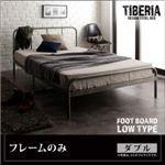 ベッド ダブル フッドロー【Tiberia】【フレームのみ】フレームカラー:シルバーアッシュ デザインスチールベッド【Tiberia】ティベリア