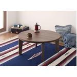 【単品】こたつテーブル 円形幅80cm【Paleta】ブラウン×ホワイト オーバル&ラウンドデザイン天板リバーシブルこたつテーブル【Paleta】パレタ