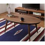 こたつテーブル 楕円形(105×75cm)【Staller】ウォールナットブラウン 天然木ウォールナット・オーク材 オーバルデザインこたつテーブル【Staller】スタレー