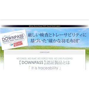 布団8点セット ダブル【和タイプ】アイボリー DOWNPASS認証 フランス産ホワイトダックダウンエクセルゴールドラベル羽毛布団点セット