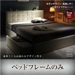 収納ベッド クイーン【フレームのみ】フレームカラー:ホワイト モダンデザイン・高級レザー大型サイズ収納ベッド Solare ソラーレ