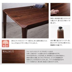 ダイニングセット 5点セット(テーブル+チェア4脚) テーブル幅150cm チェアカラー:ブラック 天然木 ウォールナット無垢材 ハイバックチェア ダイニング Virgo バルゴ画像3
