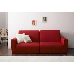 ソファーベッド 190cm【Ceuta】レッド ポケットコイルで快適快眠ゆったり寝られるデザインソファベッド【Ceuta】セウタ - 拡大画像