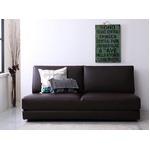 ソファーベッド 幅160cm ブラウン ふたり寝られるモダンデザインソファベッド Nivelles ニヴェル