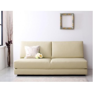 ソファーベッド 幅180cm アイボリー ふたり寝られるモダンデザインソファベッド Nivelles ニヴェル - 拡大画像