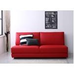 【送料無料】ソファーベッド 幅180cm レッド ふたり寝られるモダンデザインソファベッド Nivelles ニヴェルの画像