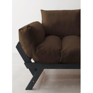 ソファー 2.5人掛け 座面カラー:ブラウン フレームカラー:ダークブラウン 北欧デザイン天然木フレームソファ Lapua ラプアの詳細を見る