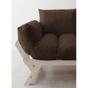 ソファー 2.5人掛け 座面カラー:ブラウン フレームカラー:ホワイト 北欧デザイン天然木フレームソファ Lapua ラプアの詳細を見る