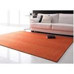 ラグマット 185×185cm オレンジ 表情豊かな撥水機能付きシェニールラグ claro クラーロ