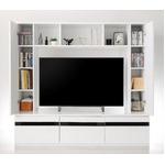 テレビ台 シャインホワイト 鏡面仕上げハイタイプTVボード MODERNA モデルナ の画像