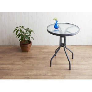 ガーデンファーニチャー 3点セット(テーブル+チェア2脚) 幅60cm テーブルカラー:クリア ラタン調リゾートガーデンファニチャー Rashar ラシャル
