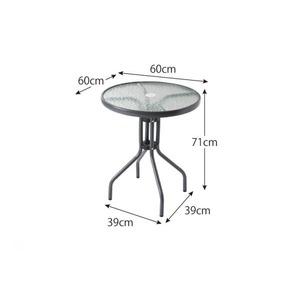ガーデンファーニチャー 5点セット(テーブル+チェア4脚) 幅60cm テーブルカラー:クリア ラタン調リゾートガーデンファニチャー Rashar ラシャル