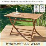 テーブル 幅120cm テーブルカラー:アカシアナチュラル アカシア天然木ガーデンファニチャー Efica エフィカ