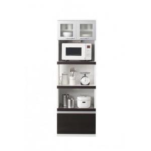 【組立設置費込】キッチンボード 幅60cm ダークブラウン 奥行41cmの薄型モダンデザインキッチン収納 Sfida スフィーダ - 拡大画像