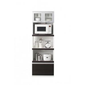 【組立設置費込】キッチンボード 幅60cm ホワイト 奥行41cmの薄型モダンデザインキッチン収納 Sfida スフィーダ - 拡大画像