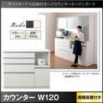 【組立設置費込】カウンター 幅120cm ホワイト ダストボックス収納付きハイカウンター Pranzo プランゾ