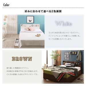 収納ベッド ダブル【ボンネルコイルマットレス付】フレームカラー:ホワイト 工具いらずの組み立て・分解簡単収納ベッド Lacomita ラコミタ