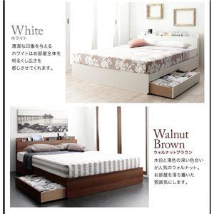収納ベッド シングル【フレームのみ】フレームカラー:ウォルナットブラウン スリム棚・4口コンセント付き収納ベッド Dublin ダブリン