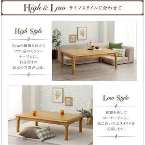 【単品】こたつテーブル 4尺長方形(80×120cm) カラー:ナチュラル 天然木パイン材アンティーク調カントリーデザインこたつ LENINN レニン