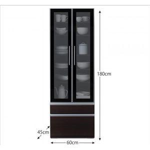 食器棚 幅60cm カラー:ウォルナットブラウ...の紹介画像4