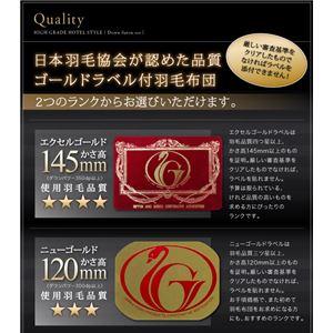 掛布団&掛カバーセット シングル【エクセルゴールドラベル】カラー:サイレントブラック 高級ホテルスタイル
