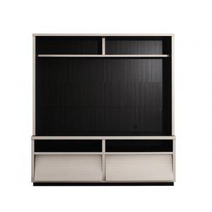 テレビボードメインカラー:ホワイト低めで揃える壁面収納ハイタイプテレビ台シリーズFlipsideフリップサイド