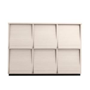 フラップチェスト【3列2段】メインカラー:ホワイト 低めで揃える壁面収納シリーズ Flip side フリップサイド