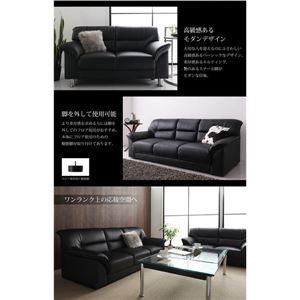 ソファー2点セット(2人掛け+3人掛け) 座面カラー:ブラック セットが選べるモダンデザイン応接ソファ シンプルモダンシリーズ BLACK ブラック