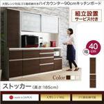 【組立設置費込】ストッカー 高さ185cm カラー:ホワイト ゴミ箱収納付き ハイカウンター90cm OLEGANO オレガノ