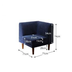 コーナーソファー 座面カラー:ブラウン 年中快適 高さ調節 リビングダイニング Repol ルポール