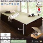 畳ベッド シングル 深さグランド【フレームのみ】フレームカラー:ダークブラウン くつろぎの和空間をつくる日本製大容量収納ガス圧式跳ね上げ畳ベッド 涼香 リョウカ