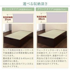 畳ベッド セミダブル 深さラージ【フレームのみ】フレームカラー:ダークブラウン くつろぎの和空間をつくる日本製大容量収納ガス圧式跳ね上げ畳ベッド 涼香 リョウカ
