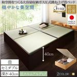 【組立設置費込】畳ベッド セミダブル 深さラージ【フレームのみ】フレームカラー:ナチュラル くつろぎの和空間をつくる日本製大容量収納ガス圧式跳ね上げ畳ベッド 涼香 リョウカ