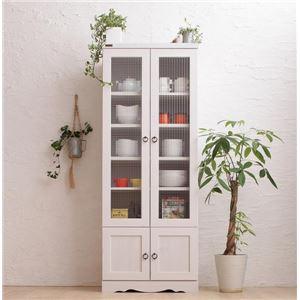 食器棚 幅58 高さ150   メインカラー:ホワイト  木目が美しいモダンボタニカルキッチン収納シリーズ Botanical ボタニカル