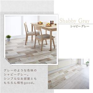 キッチンマット 80×210cm   メインカラー:サックスブルー  拭ける・はっ水 古木風マット Floldy フロルディー