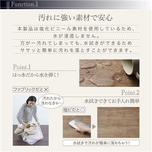 デスク下マット 100×150cm   メインカラー:サックスブルー  拭ける・はっ水 古木風マット felmate フェルメート